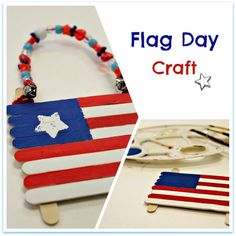 June 14th is National Flag Day.  Make this fun flag craft with kids.