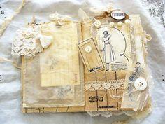 Livre dArt mixte Vintage ordure Journal Smash Book par ShabbySoul