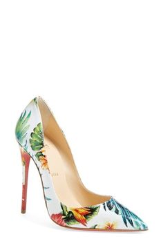 Christian Louboutin 'So Kate - Hawaii' Print Pointy Toe Pump (Women) available at #Nordstrom