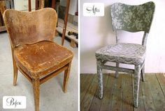 before & after chair