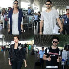 Our Bollywood stars are making a getaway together this weekend. And no it's not a mass exodus. All roads and flights lead to Dubai this weekend for the Times Of India Film Awards and Parineeti Chopra Aditya Roy Kapur Huma Qureshi and Sooraj Pancholi looked excited as they made their way to the departure terminal of the international airport in Mumbai. It looks like a big Bollywood party is on its way sooner! by #Filmfare. Shared by #BollywoodScope