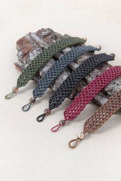 Macrame bracelet handmade jewelry