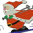 Free Embroidery Designs Home Stock Embroidery Designs  sledding santa