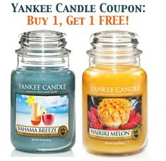 Yankee Candle Coupon: Buy 1, Get 1 FREE!  #yankee #candles