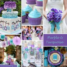 Purple & Teal Theme Wedding ideas
