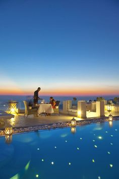 Romantic Escape: Above Blue Suites, Santorini, Greece  #jetsettercurator