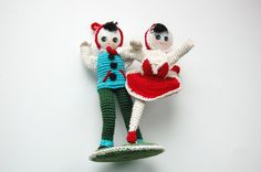 Adorable Little Crochet Dancing Couple