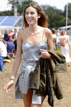 Not A Flower Crown In Sight: The Best A-List Looks From Glastonbury 2017 - Alexa Chung At Glastonbury 2014 from InStyle.com