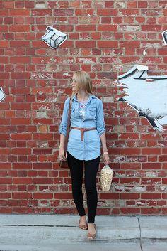 Pencil Stitches: Denim shirt outfit