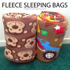 DIY Fleece Sleeping Bags