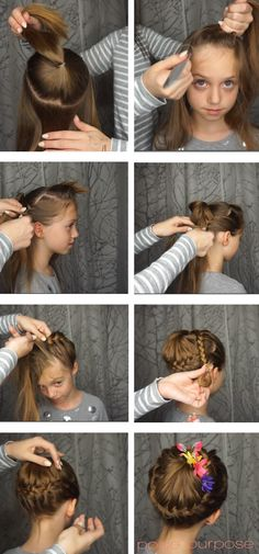 kids braided ballet bun