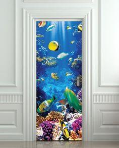 "Door Wall Fridge LAMINATED STICKER Underwater, Ocean, Sea mural decole film self-adhesive poster 30x79""(77x200 cm) Pulaton http://www.amazon.com/dp/B00HWH2P02/ref=cm_sw_r_pi_dp_4imVwb0T5YP1B"