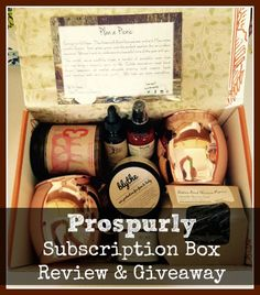 Prospurly subscription boxes come filled with organic, sustainable, artisan-crafted products you're sure to fall in love with!
