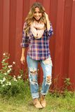 Playful In Plaid Top: Navy/Multi #shophopes