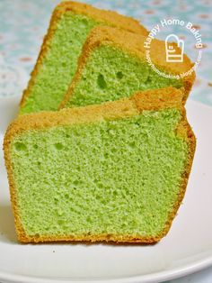 Happy Home Baking: pandan cake...two way