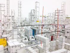 Japanese Artist Hand-Crafts Intricate Three Dimensional Paperscapes,© Katsumi Hayakawa