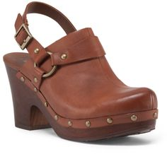 Sling Back Studded Clogs