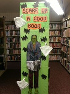 Mount Hope Public Library Display!! Scare up a good book!
