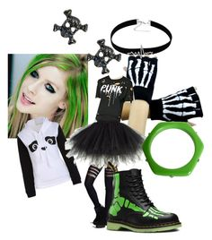 """""""Avril Lavigne"""" by mermaidfairy818 ❤ liked on Polyvore featuring Dr. Martens, Forever 21 and Marc by Marc Jacobs"""