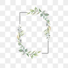 Leaf frame for wedding invitations PNG and Vector Rose Frame, Flower Frame, Flores Vintage Png, Royal Wedding Invitation, Wedding Borders, Wedding Badges, Framed Leaves, Floral Wedding, Green Wedding