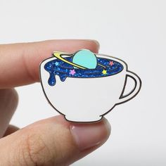 Intergalactreat: Cosmos Latte - Hard Enamel Pin by FromJae on Etsy
