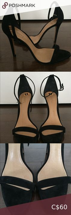 Schutz black suede heeled sandals size 11 These shoes are perfect for formal, casual events or the club. Worn once. In excellent condition. Heels are 4 inches. Suede Heels, Shoes Heels, Heeled Sandals, Black Suede, Fashion Tips, Fashion Trends, Events, Club, Formal