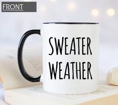 Items similar to Sweater weather personalized coffee mug for anyone you love, cute coffee mug for the fall season, for Halloween or Thanksgiving. on Etsy Personalized Coffee Mugs, Personalized Gifts, Cute Coffee Mugs, Christmas Mugs, Fall Season, Gifts In A Mug, Sweater Weather, Customized Gifts, Thanksgiving