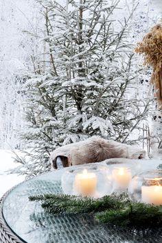 talven sisustusta terassilla, pihassa *♡*