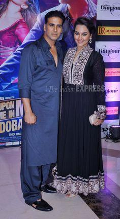 Akshay Kumar and Sonakshi Sinha who star in Ekta Kapoor's 'Once Upon A Time in Mumbaai Dobaara' at her Iftar, Aug 07  (Photo: Varinder Chawla)
