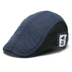 989b8730f23 Men Women Cotton Embroidery Beret Cap Adjustable Casual Forward Peaked Hat  Vintage Embroidery
