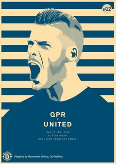 Match poster. QPR vs Manchester United, 17 January 2015. Designed by @manutd.