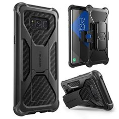 Galaxy S8 Plus Case Cover Dual Layer Shockproof Tpu Belt Clip Kickstand Black
