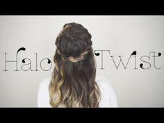 HALO TWIST   School Ball/ Wedding Hair - YouTube