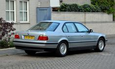 E38 BMW 750i in Arctic Silver (Arktissilber) Shadowline and Styling 5 alloys