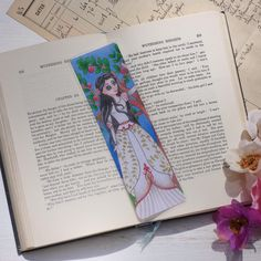 Excited to share this item from my #etsy shop: Goth Snow White Bookmark, Fairy Tale Bookmark, Grimms Brother Bookmark, Reading  Gifts, Fairy Tale Gifts  #princessbookmark #readinggifts #grimmbrothers #fairytalebookmark #snowwhite Goth Snow White, Gifts For Readers, Love Fairy, Altered Images, Grimm, Bibliophile, Bookmarks, Fairy Tales, Brother