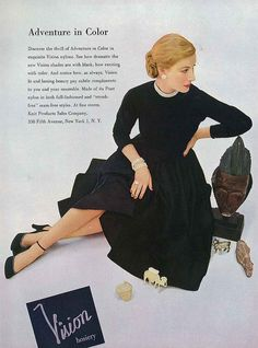 A classic black dress will, really and truly, never go out of style. #vintage #fashion #1950s #LBD #dress #ad