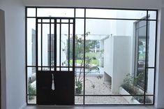 Puerta jardín de invierno #puertas