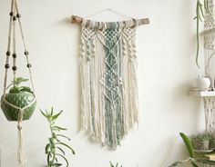 Wall tapestry Macrame Tapestry Macrame Wall Hanging by NomaMacrame