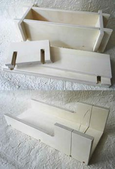 Quality wooden soap mould and wire cutter that makes soap making easier