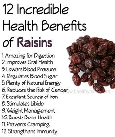 12 Incredible Health Benefits of Raisins! #health #wellness #organic
