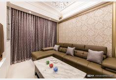 善用空間的簡約收納_新古典風設計個案—100裝潢網 Design Case, Living Room Designs, Couch, Curtains, Saree, Furniture, Home Decor, Settee, Blinds