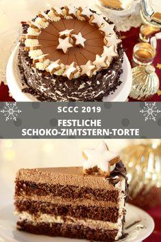 Chocolate Cinnamon Star Cake - Recipe and Video by Sugarprincess Easy Cupcake Recipes, Easy Smoothie Recipes, Snack Recipes, Dessert Recipes, Star Cakes, Coconut Recipes, Pumpkin Spice Cupcakes, Food Cakes, Christmas Desserts