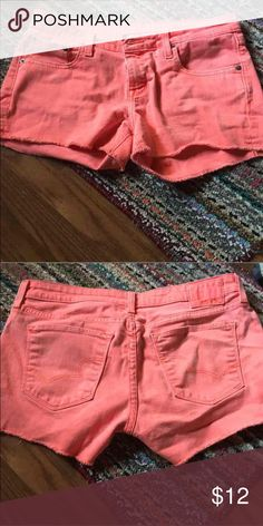 Old school neon shorts They're so cute but they're too big for me Shorts Jean Shorts