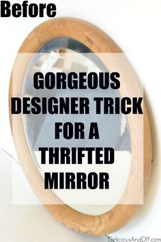 Learn how to make your very own Anthropologie Mirror Dupe on a budget with this gorgeous designer trick|This copycat Anthropologie super easy to make and literally costs less than half the price of the original version| DIY Thrift Store Mirror gets an Anthropologie Inspired Makeover #anthropologiehacks #homedecor #goldflowermirror #mirrorideas #anthropologiehome