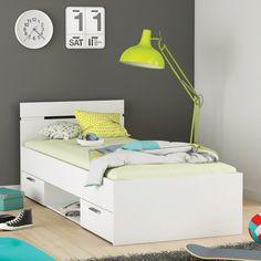 Multifunkční postel 90x200 MICHIGAN perleťově bílá - Postele - IDEA nábytek