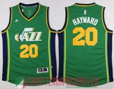 canotte nba poco prezzo Utah Jazz verde   20 Hayward Los Angeles Clippers ab9ff26f4111
