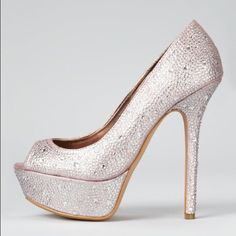 Steven by Steve Madden rhinestone crystal pumps Worn once for two hours, has gel insoles. Steven by Steve Madden bedazzled crystal pink pumps. Size 6.5 Steven by Steve Madden Shoes Heels