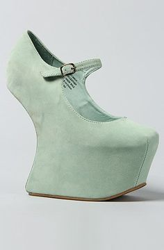 Jeffrey Campbell The Night Walk Shoe in Mint Suede: Shoes