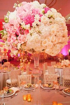 Oppulent wedding reception centerpiece idea; Featured Photographer: Thisbe Grace Photography