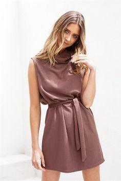 6af726609f6606 Ribbed Pecan Dress - Dresses by Sabo Skirt